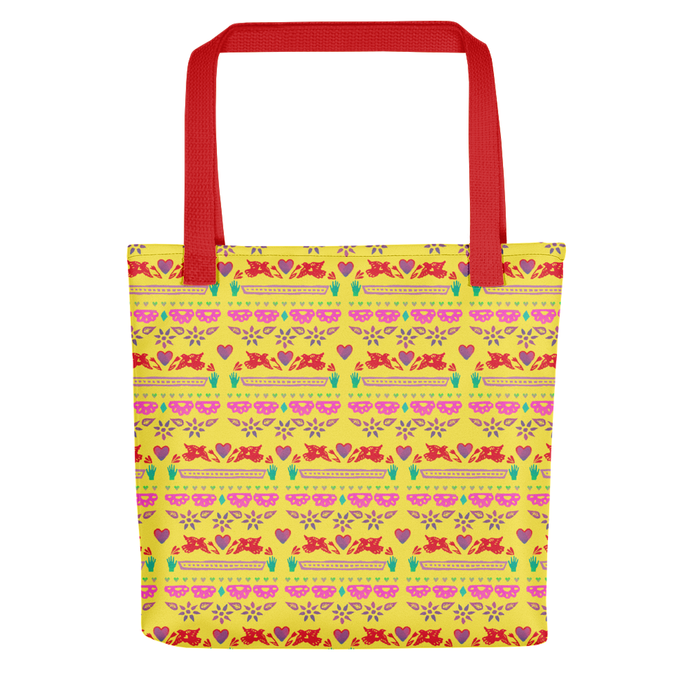 Handmade Love Papel Picado Tote Bag