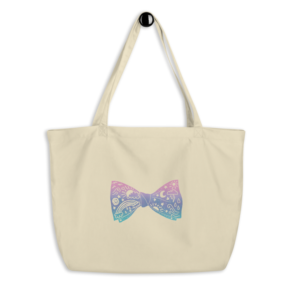 Astral Bow Tie Large Eco Tote