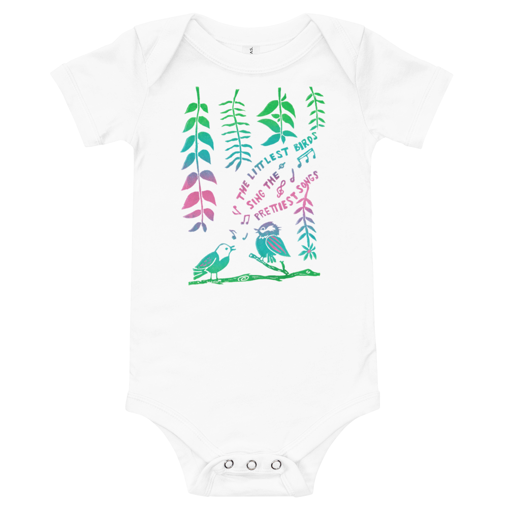 The Littlest Birds Sing Onesie