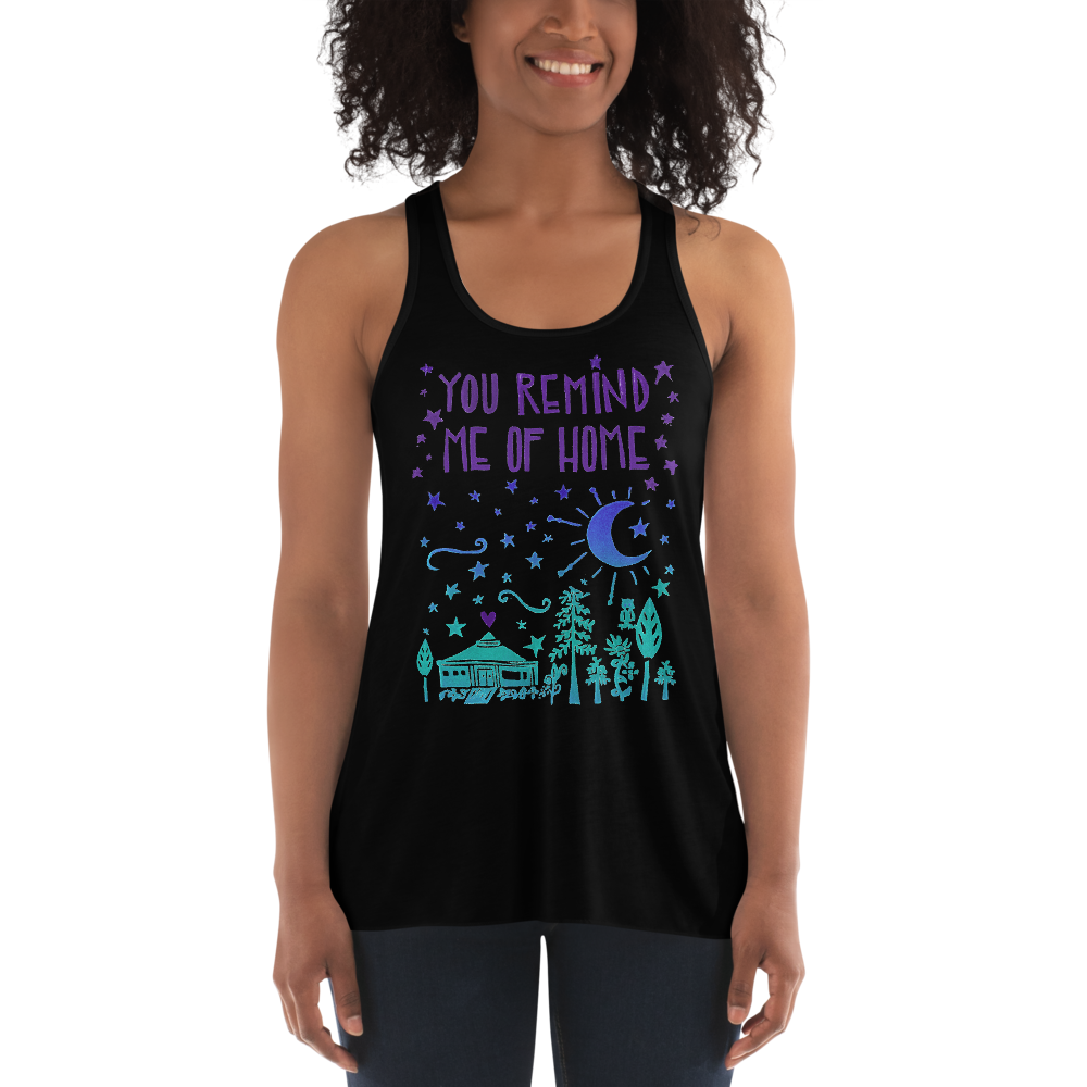 You Remind Me Of Home Flowy Racerback Tank