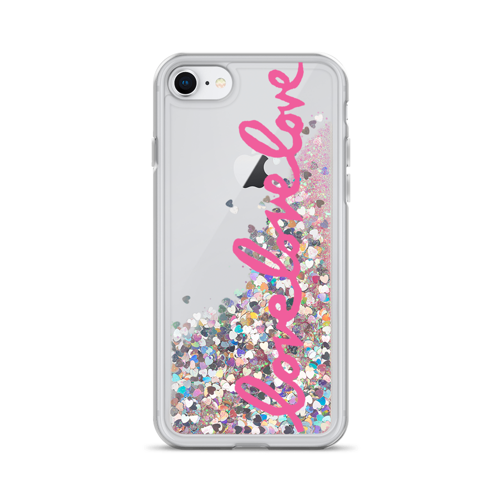 There'll Be Love Love Love Liquid Glitter Phone Case
