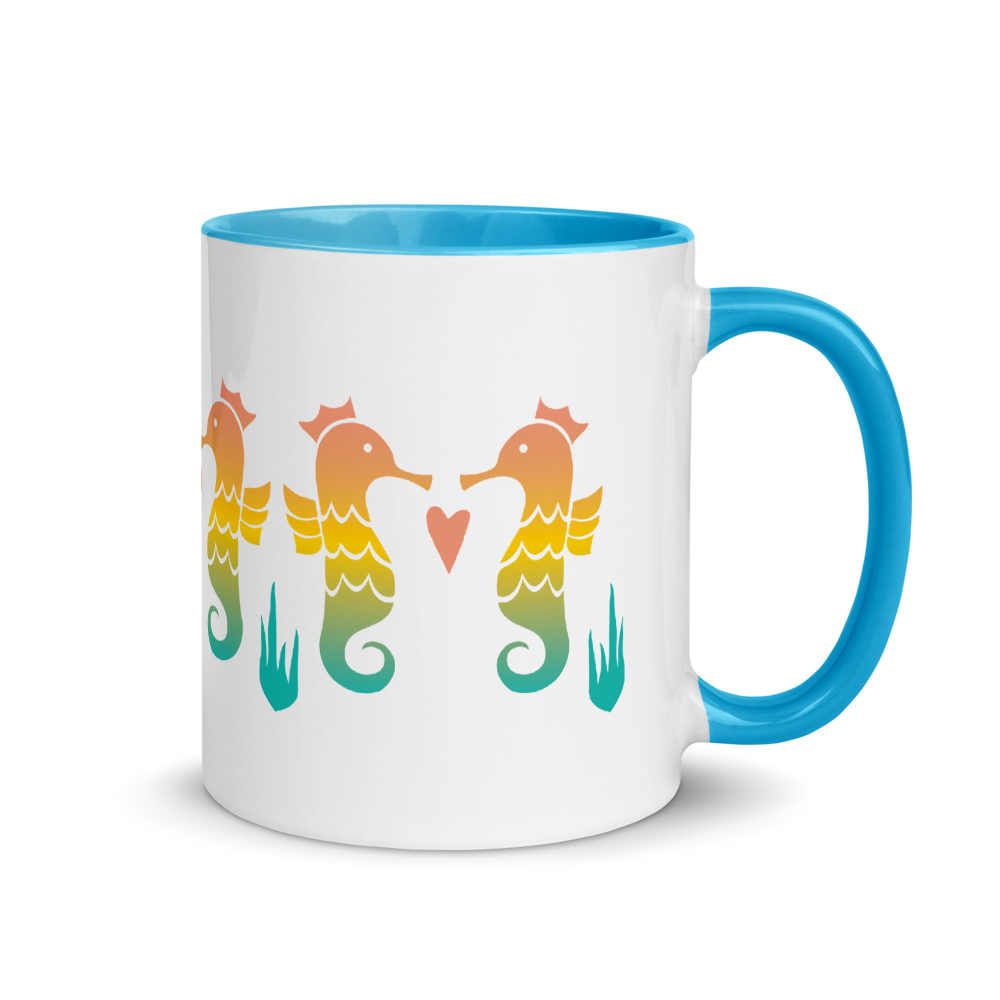 Royal Seahorse Mug with Color Inside