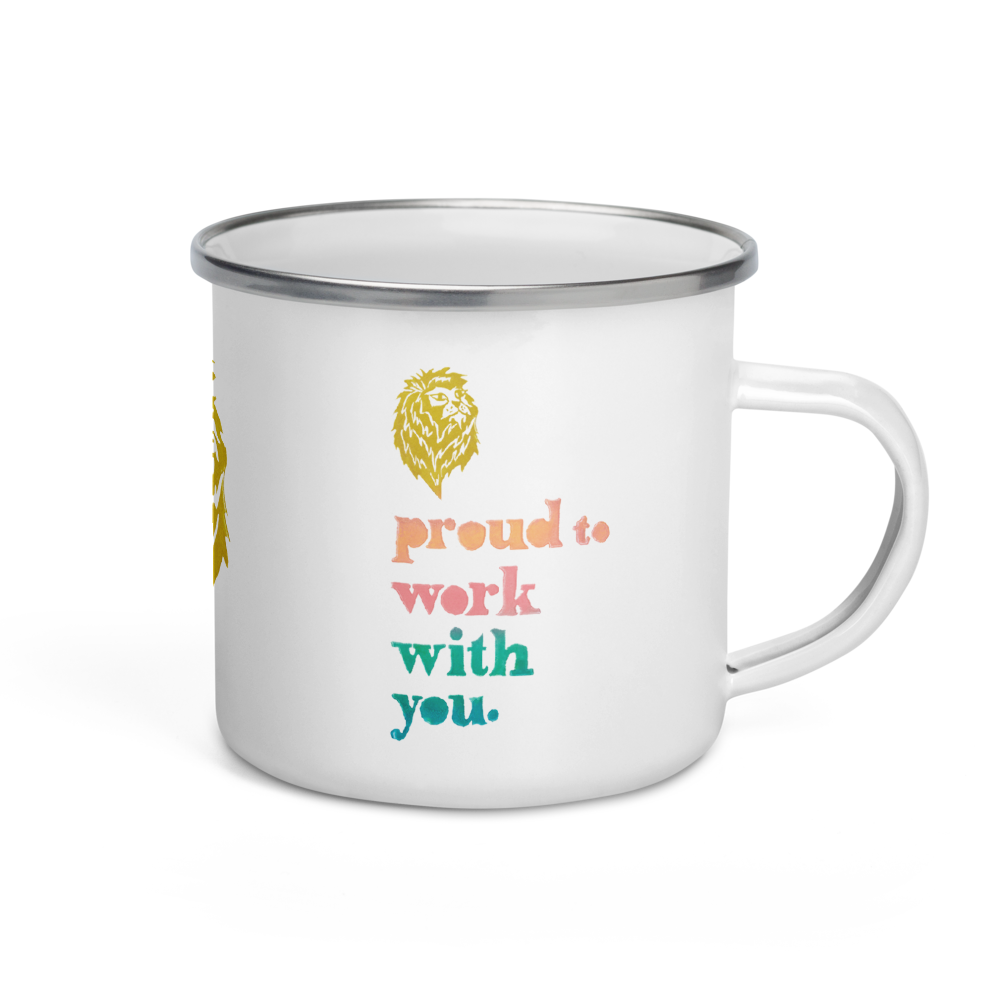 Proud To Work With You Enamel Camping Mug