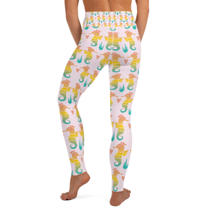 Royal Seahorse Yoga Leggings