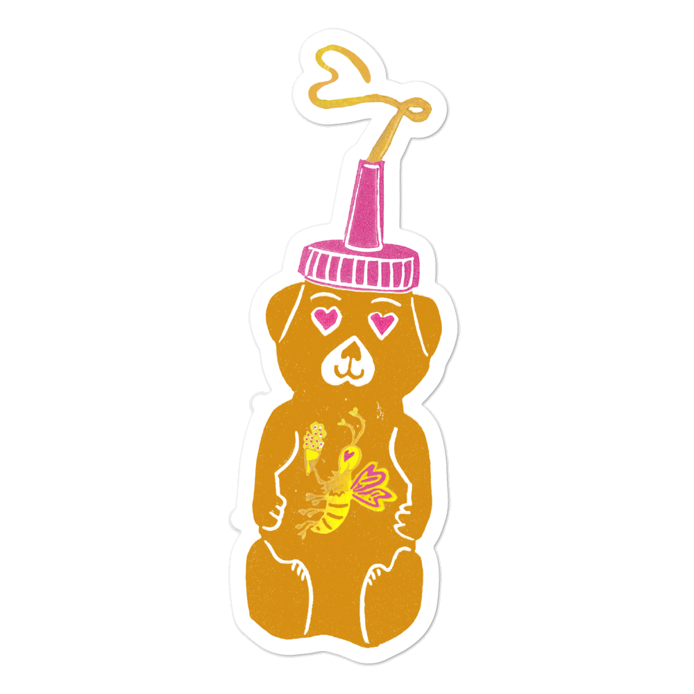Honeybear Bubble-free Stickers