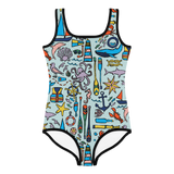 Nautical Drifts Kids Swimsuit