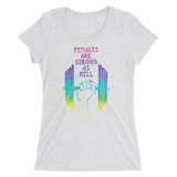 Females Are Strong As Hell Adult Short Sleeve Tee