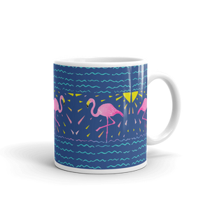 Moonlight Flamingo Rays Mug