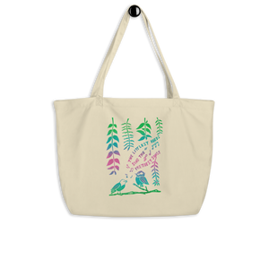 The Littlest Birds Sing Large Eco Tote Bag
