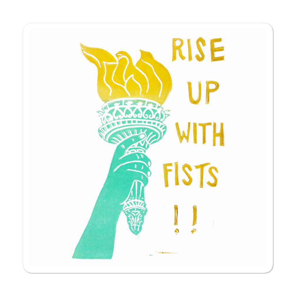 Rise Up With Fists!! Bubble-free Stickers
