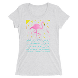 Flamingo Rays Adult Short Sleeve Tee
