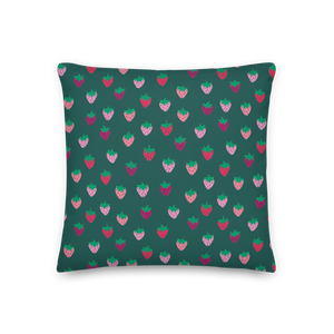 Strawberry Patch Premium Pillow