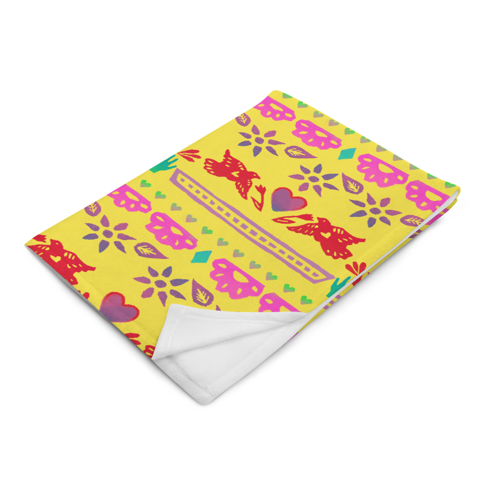 Handmade Love Papel Picado Throw Blanket