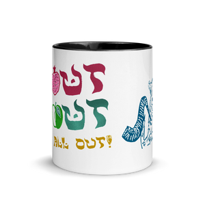 Shout Shout Let It All Out Mug with Color Inside