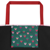 Pink Strawberry Patch Beach Bag