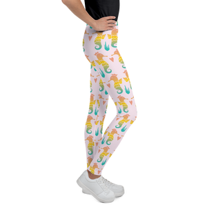 Royal Seahorse Youth Leggings