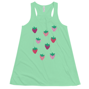 Strawberry Patch Flowy Racerback Tank