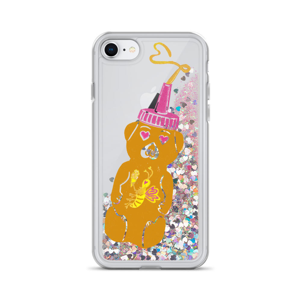 Honeybear Liquid Glitter Phone Case