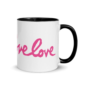 Love Love Love Mug with Color Inside