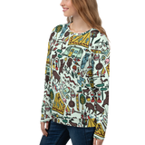 Whimsical Wilderness Pattern Sweatshirt