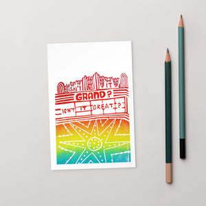 Isn't It Grand? Grand Lake Theatre Standard Postcard