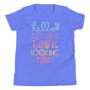 Hello Is It Me You're Looking For Youth Short Sleeve Tee