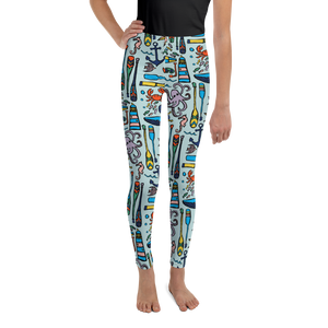 Nautical Drifts Youth Leggings