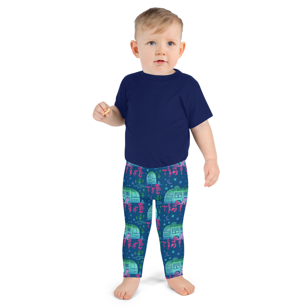 Rascal Raccoon & Airstream Dreams Kids Leggings