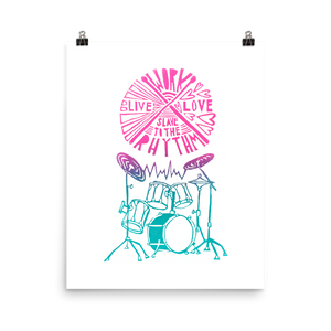 Work Live Love Slave To The Rhythm Art Prints