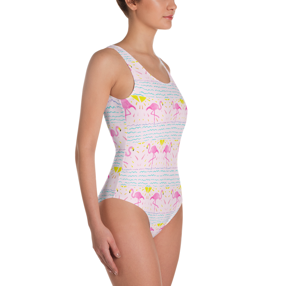Flamingo Rays One-Piece Swimsuit
