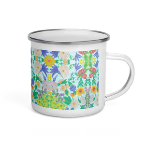Garden for the Enlightenment Enamel Camping Mug