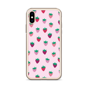 Pink Strawberry Patch iPhone Case