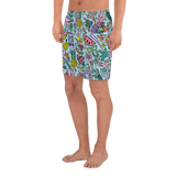 Tropical Fantasies Athletic Long Shorts