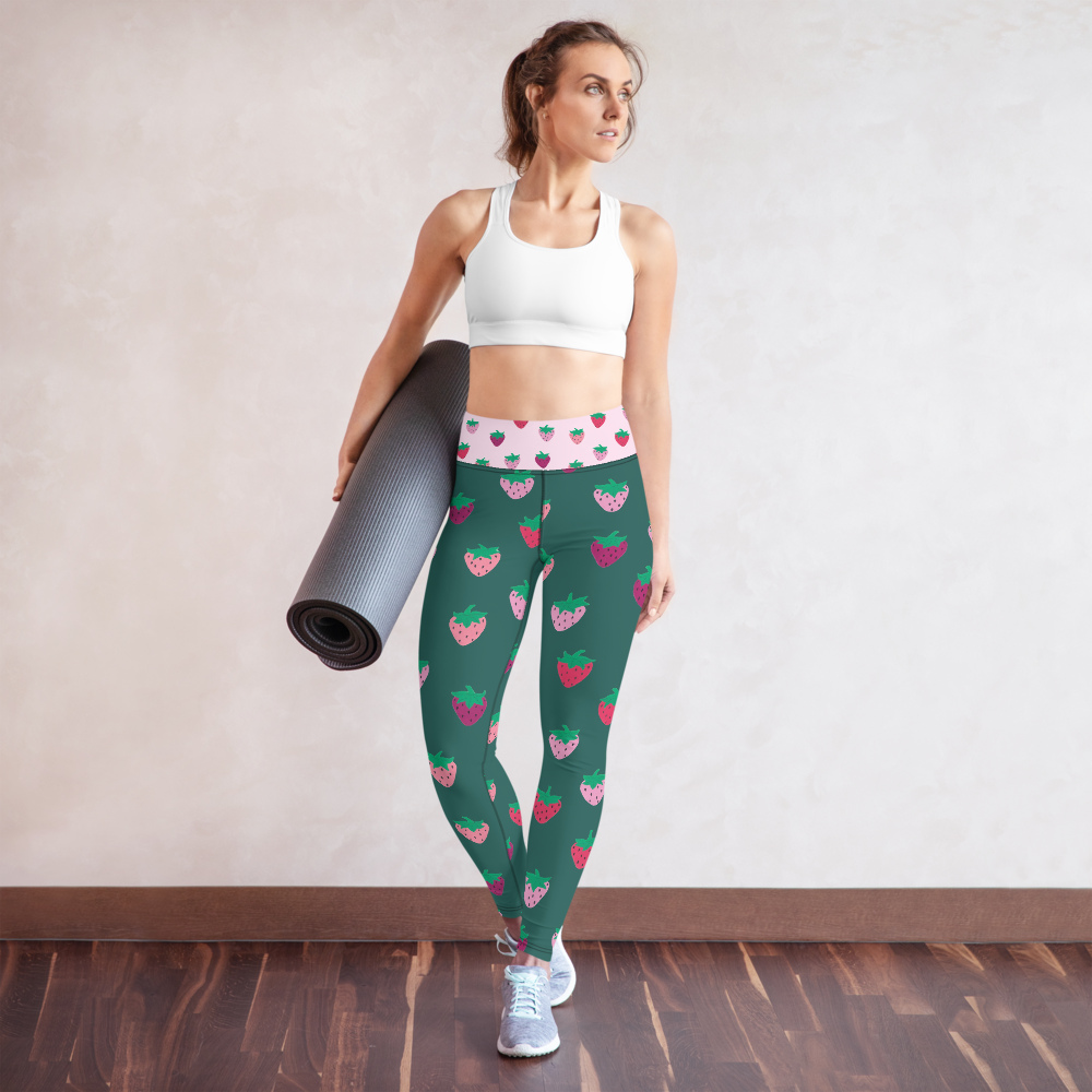 Strawberry Patch Yoga Leggings