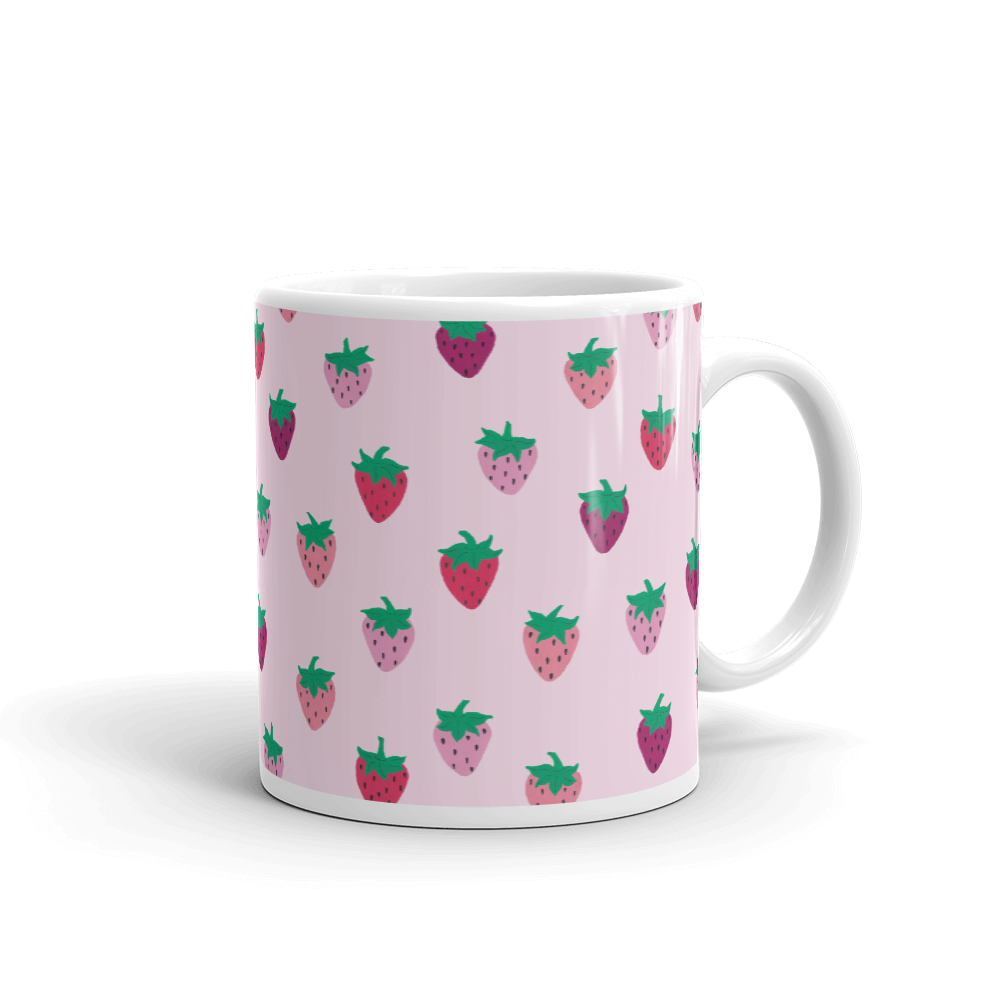 Pink Strawberry Patch Mug