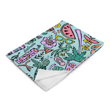 Tropical Fantasies Throw Blanket