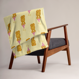 I Love You Honeybear Throw Blanket