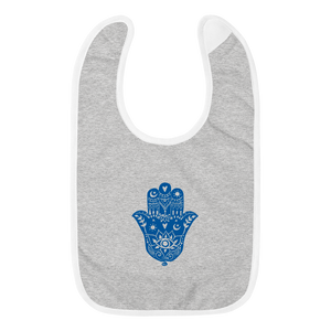 Hamsa Embroidered Bib