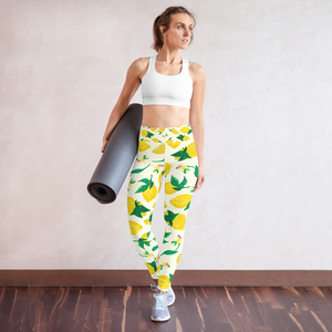 Citrus Blossom Yoga Leggings