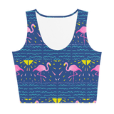Moonlight Flamingo Rays Crop Top