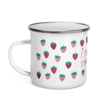 I Spread Like Strawberries Enamel Camping Mug