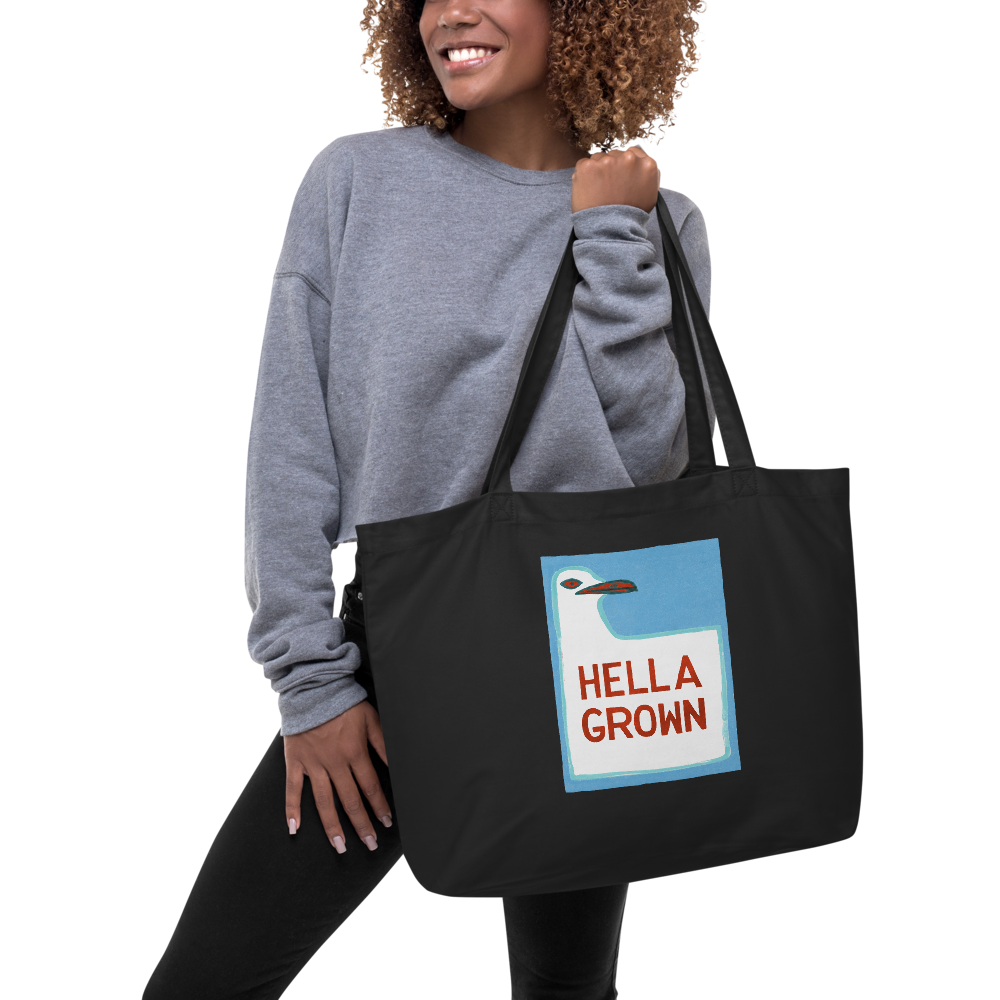 Hella Grown Large Eco Tote Bag