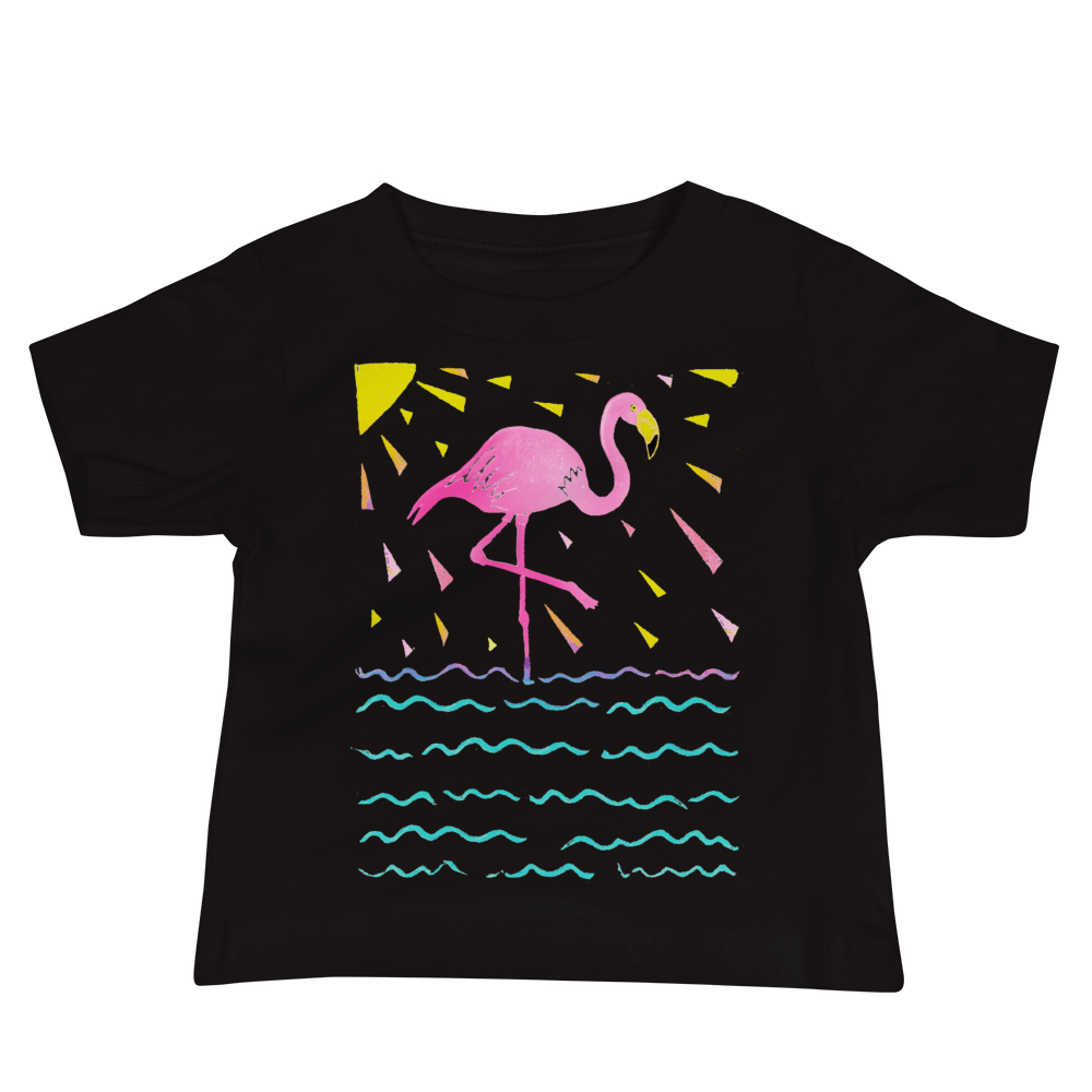 Flamingo Rays Baby Short Sleeve Tee