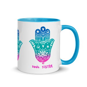 Hey Sister Go Sister Soul Sister Mug with Color Inside