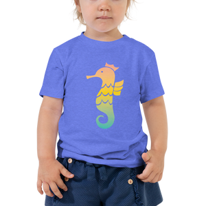 Royal Seahorse Toddler Short Sleeve Tee