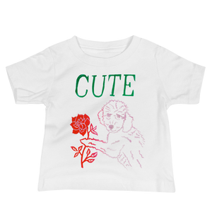 I Think You're Cute Baby Short Sleeve Tee