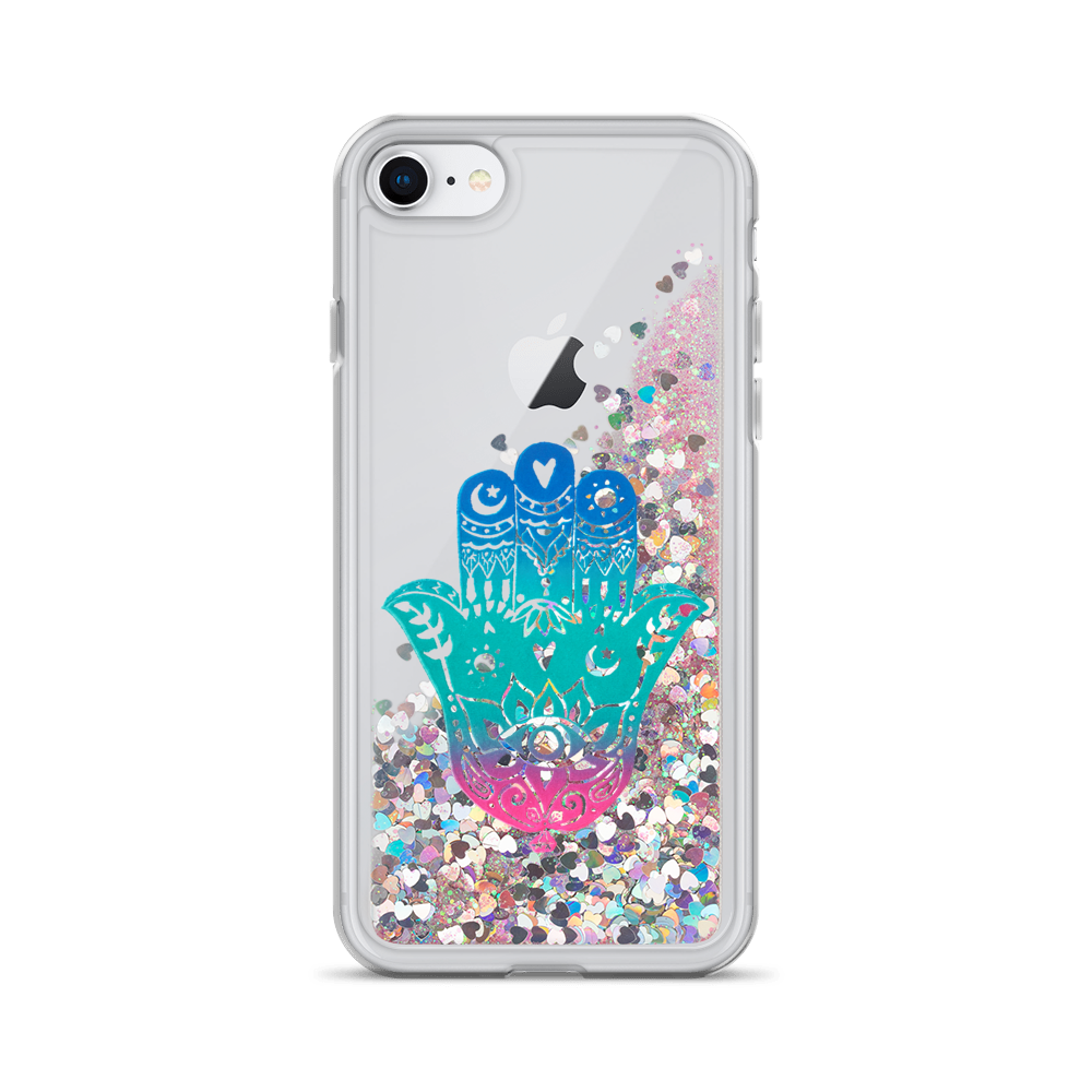 Hamsa Liquid Glitter Phone Case