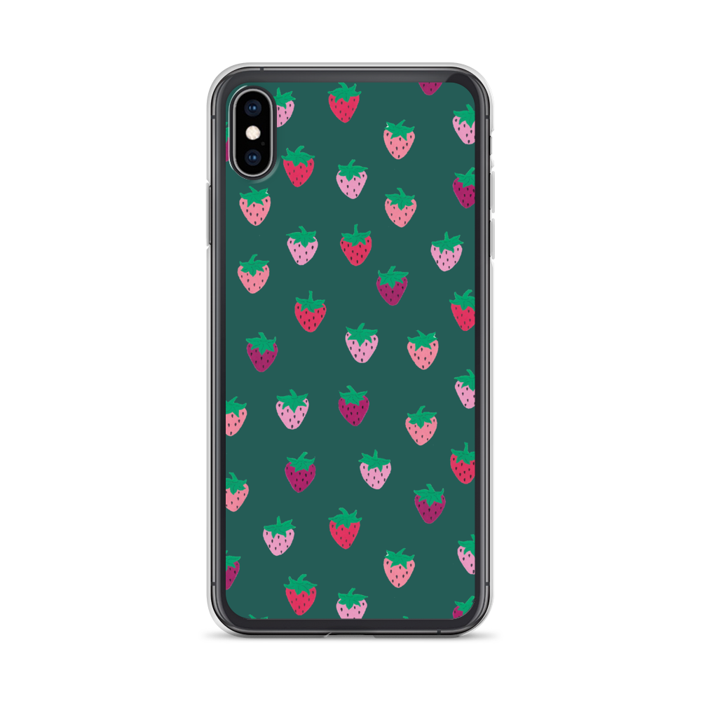 Green Strawberry Patch iPhone Case