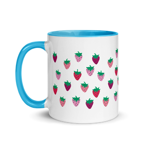 Strawberry Patch Mug with Color Inside
