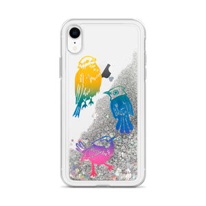 Three Little Birds Liquid Glitter Phone Case